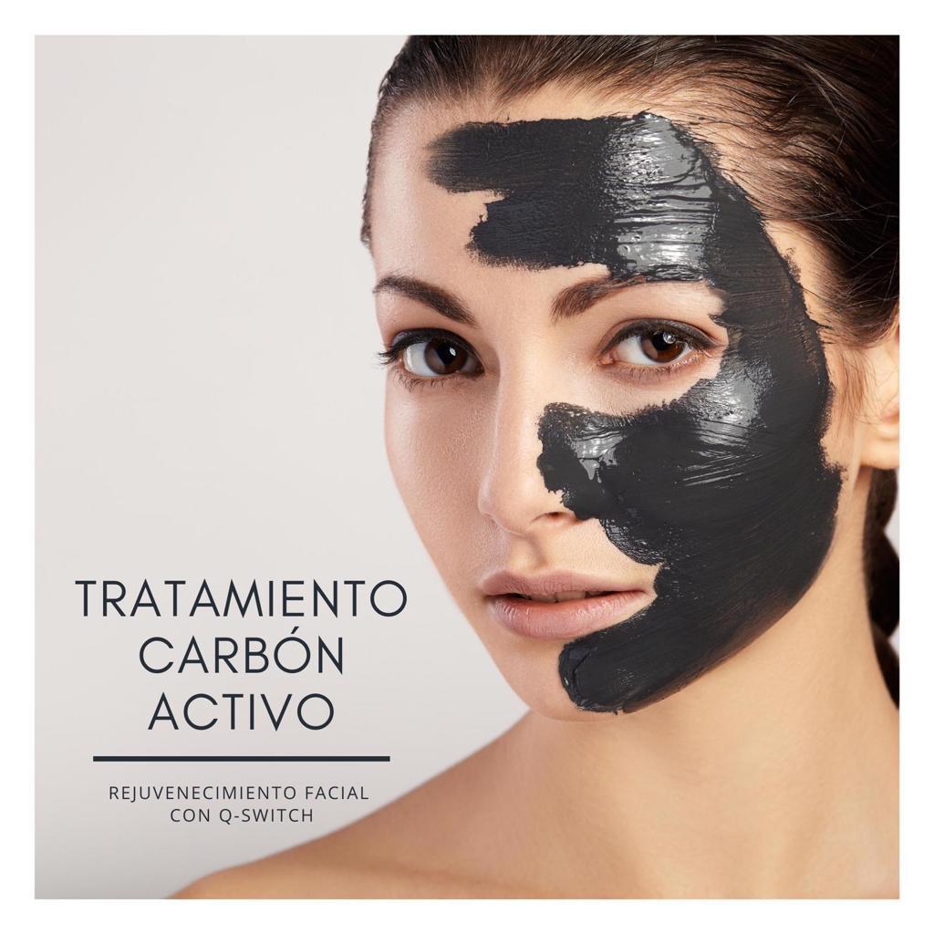 Carbón activo para la limpieza facial